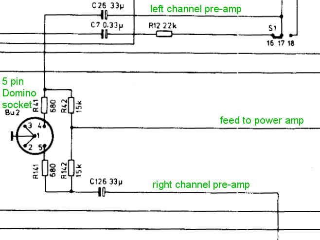 "5 pin din type ""domino"" headphone socket wiring  uk"