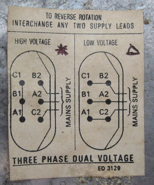 3 Phase Dual Voltage Motor To 240v Wiring Diagram