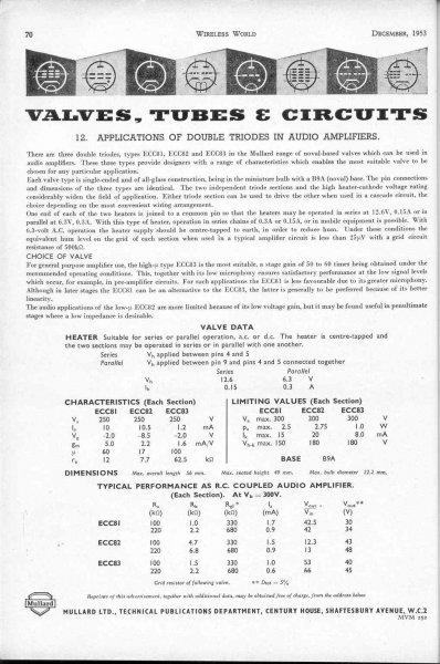 Advantages of ECC85 over ECC81? - UK Vintage Radio Repair