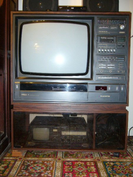 1983 Tv With Integrated Record Player Tape Radio What Hi Fi