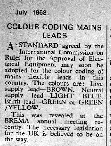 Astonishing When Did Appliance Wiring Colours Change Uk Vintage Radio Repair Wiring 101 Xrenketaxxcnl